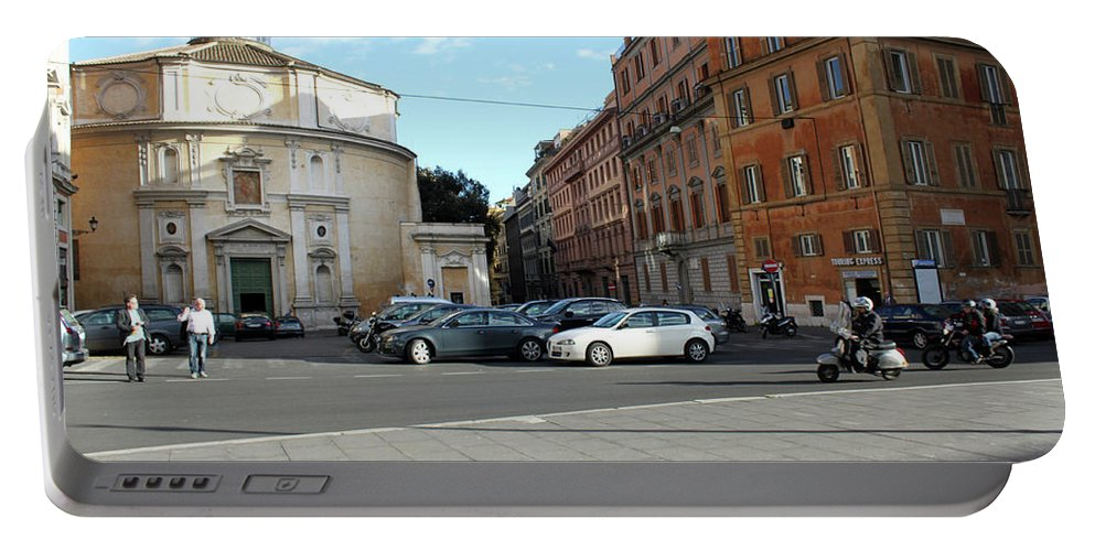 Rome Portable Battery Charger featuring the photograph On The Street by Munir Alawi