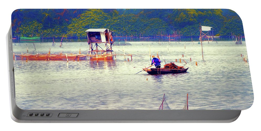 Vietnam Portable Battery Charger featuring the photograph On The Way To Da Nang 4 by Claude LeTien