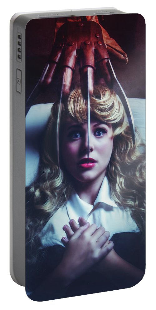 Portrait Portable Battery Charger featuring the photograph Once Upon A Nightmare by Saffels Photography
