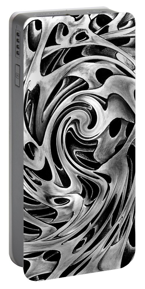One Big Mistake Portable Battery Charger featuring the drawing One Big Mistake 2 by Peter Piatt