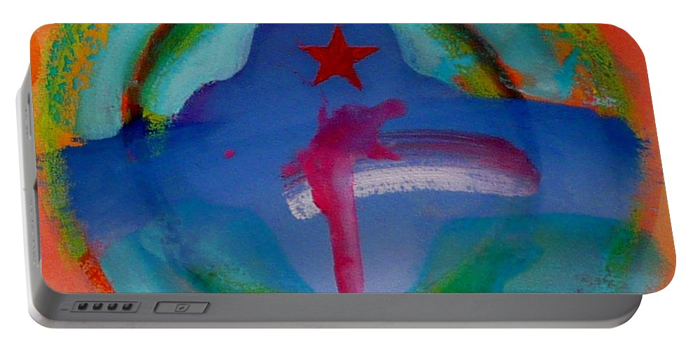 Logo Portable Battery Charger featuring the painting one by Charles Stuart