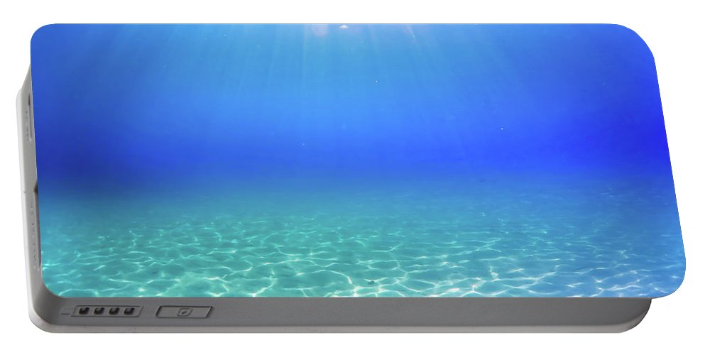 Turquoise Portable Battery Charger featuring the photograph One Deep Breath by Nicklas Gustafsson