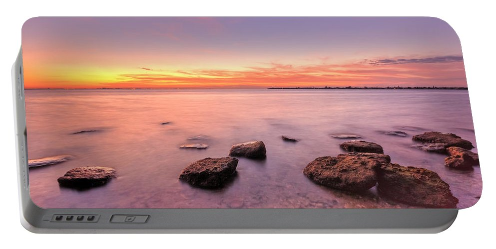 Sunrise Portable Battery Charger featuring the photograph One Fine Morning by Evelina Kremsdorf