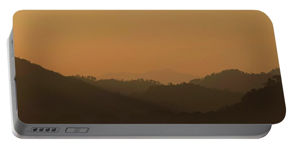 Sunset Portable Battery Charger featuring the photograph One Fine Sunset In Honduras by Hany J