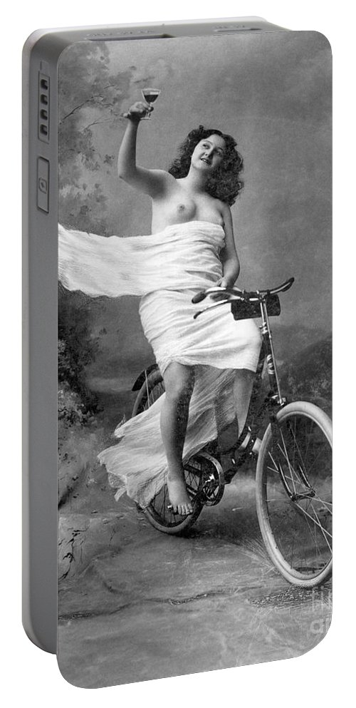 1900 Portable Battery Charger featuring the photograph One For The Road, C1900 by Granger