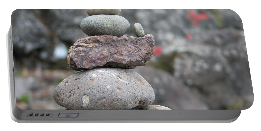 Rocks Portable Battery Charger featuring the photograph One More by Kelly Mezzapelle