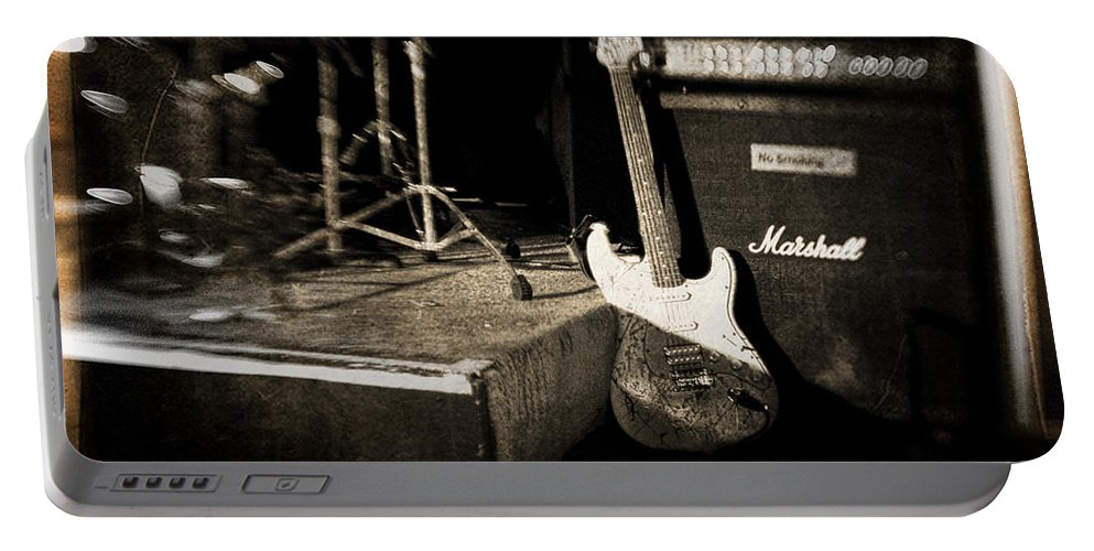 Guitar Portable Battery Charger featuring the photograph One More Show by Scott Pellegrin