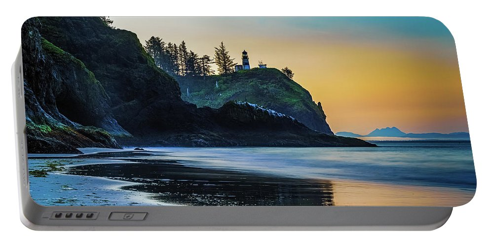 Beach Portable Battery Charger featuring the photograph One Morning At The Beach by Ken Stanback