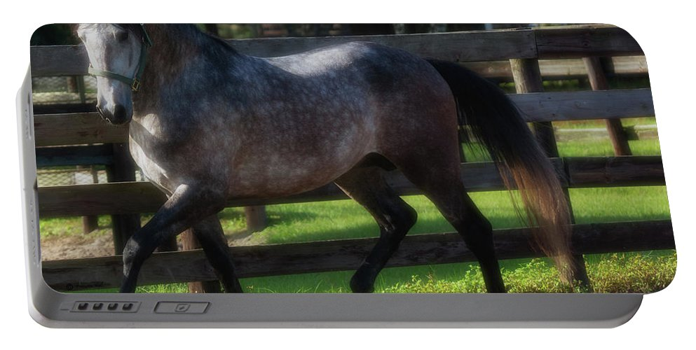 Andalusian Portable Battery Charger featuring the photograph One Of A Kind by Francine Hall