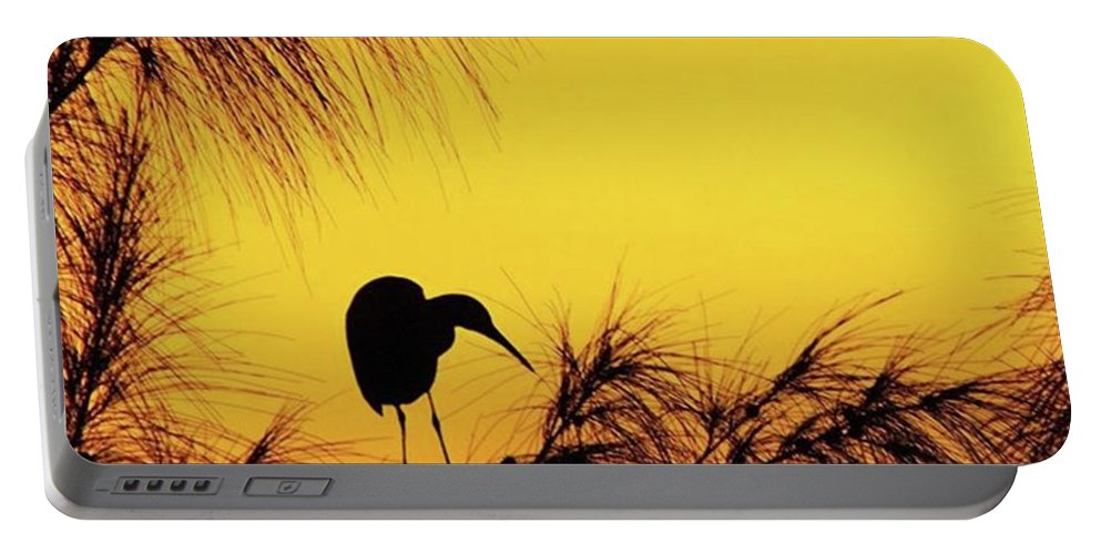 Egret Portable Battery Charger featuring the photograph One Of A Series Taken At Mahoe Bay by John Edwards
