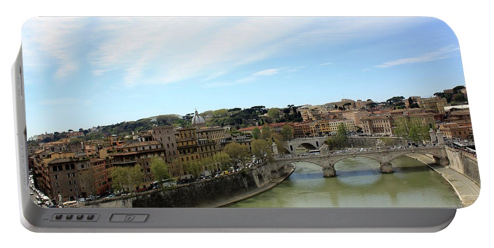 Rome Portable Battery Charger featuring the photograph One Of Rome's Bridge by Munir Alawi