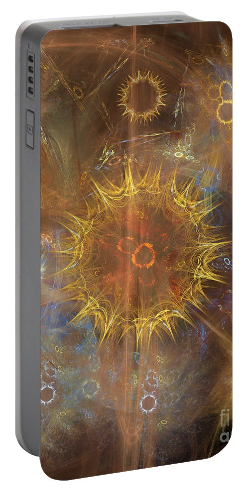 One Ring To Rule Them All Portable Battery Charger featuring the digital art One Ring To Rule Them All by John Beck