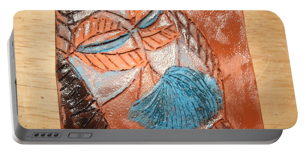 Jesus Portable Battery Charger featuring the ceramic art Onella - Tile by Gloria Ssali