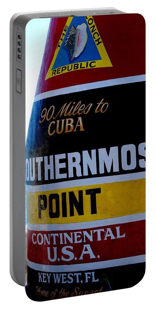 Photography Portable Battery Charger featuring the photograph Only 90 Miles To Cuba by Susanne Van Hulst