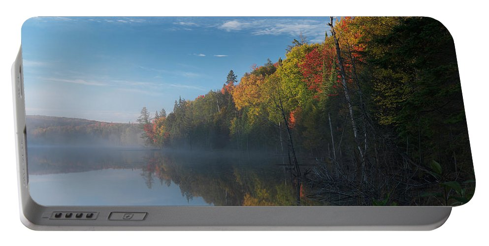 Lake Portable Battery Charger featuring the photograph Ontario Autumn Scenery by Oleksiy Maksymenko