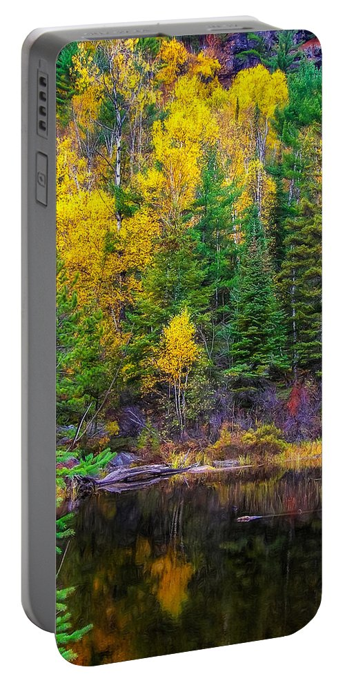 Wilderness Portable Battery Charger featuring the photograph Ontario Tarn by Steve Harrington