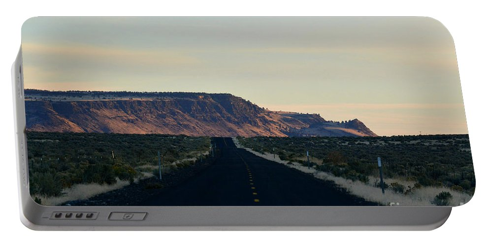 Highway Portable Battery Charger featuring the photograph Open Road by Out West Originals