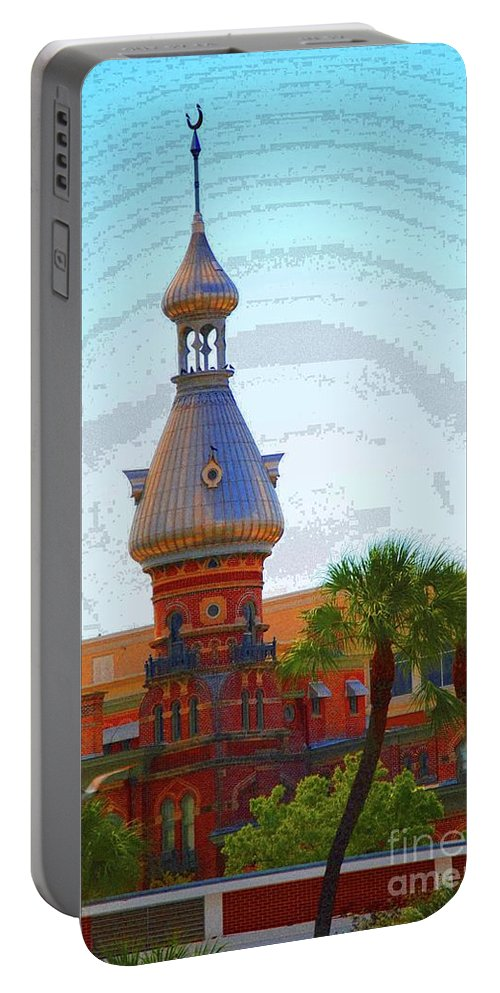 University Of Tampa Portable Battery Charger featuring the photograph Open Sky On Ut by Jost Houk