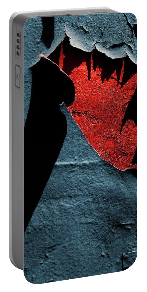 Peeling Paint Portable Battery Charger featuring the photograph Open Wound by Tianxin Zheng