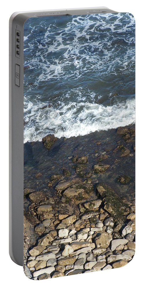 Ocean Portable Battery Charger featuring the photograph Opponents by Shari Chavira
