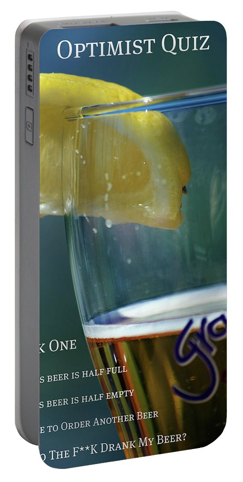 Optimist Portable Battery Charger featuring the photograph Optimist Quiz by Lisa Knechtel