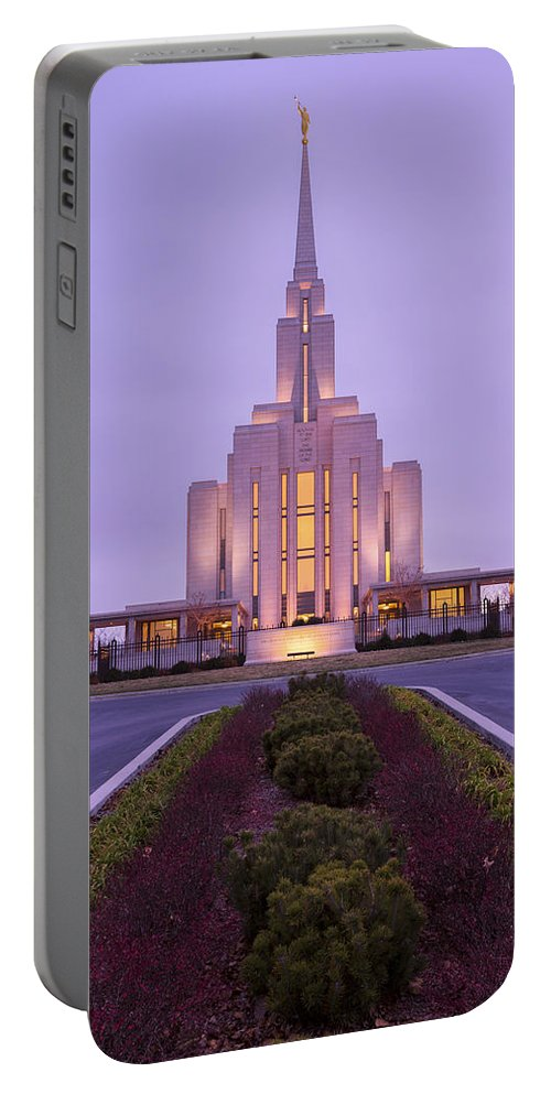 Oquirrh Fall Portable Battery Charger featuring the photograph Oquirrh Fall by Chad Dutson