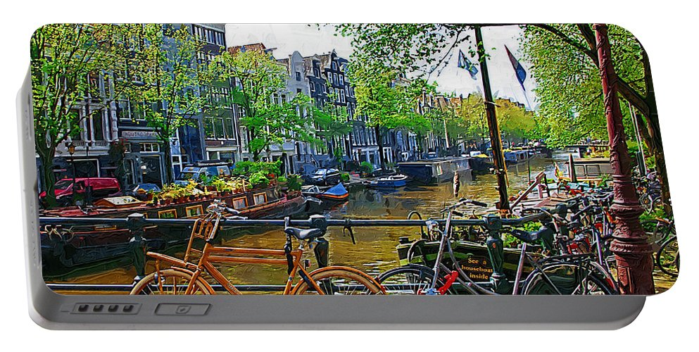Bike Portable Battery Charger featuring the photograph Orange Bike by Tom Reynen