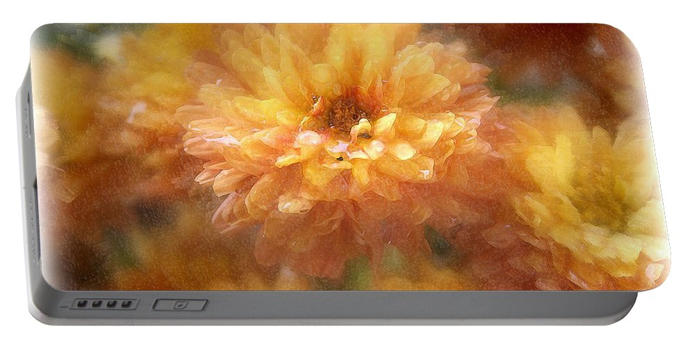 Flowers Portable Battery Charger featuring the photograph Orange Passion by Linda Sannuti