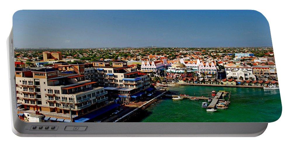 Aruba Portable Battery Charger featuring the photograph Oranjestad Aruba by Gary Wonning