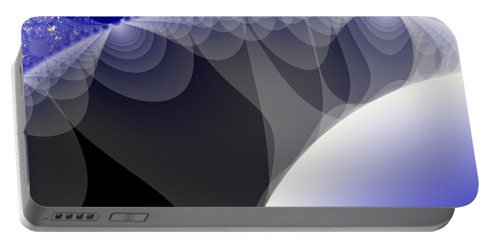 Fractal Image Portable Battery Charger featuring the digital art Orbs And Atmospheres by Ron Bissett