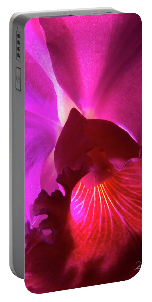 Photography Portable Battery Charger featuring the photograph Orchid Landscape by Frederic A Reinecke