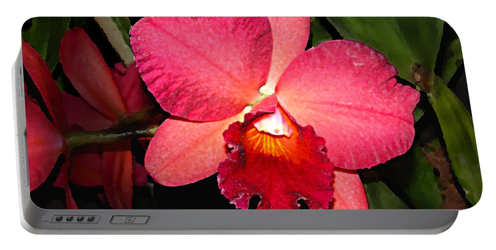 Digital Painting And Photography Portable Battery Charger featuring the photograph Orchid by Steve Karol