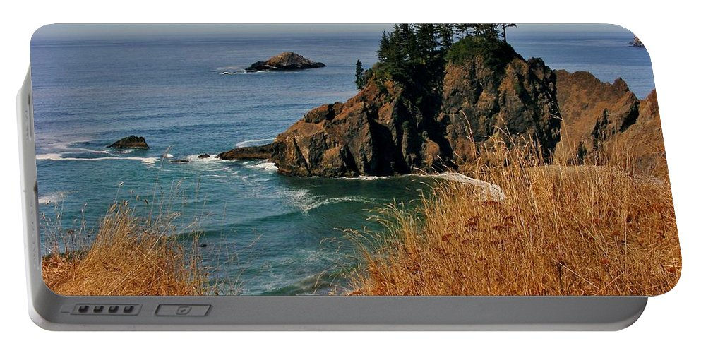 Ocean View Portable Battery Charger featuring the photograph Oregon Coast by Marilyn Smith