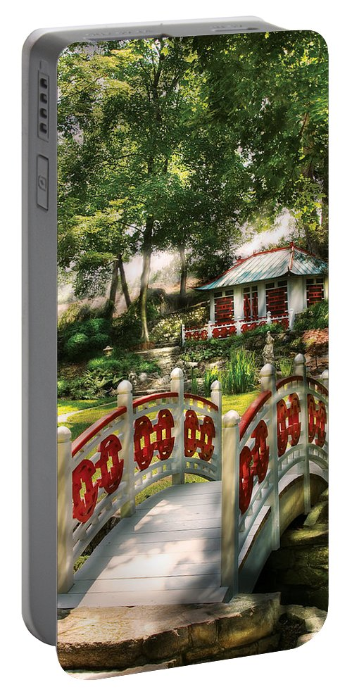 Savad Portable Battery Charger featuring the photograph Orient - Bridge - The Bridge To The Temple by Mike Savad