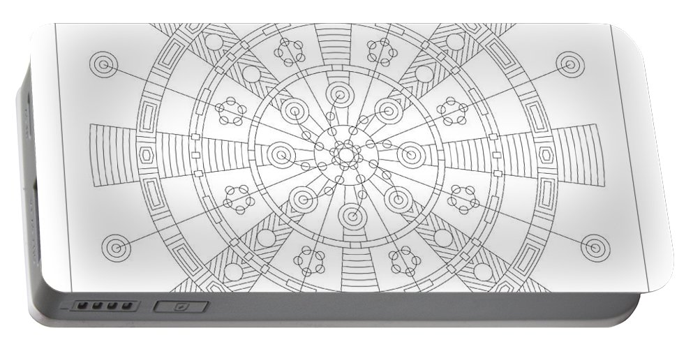 Relief Portable Battery Charger featuring the digital art Origin by DB Artist