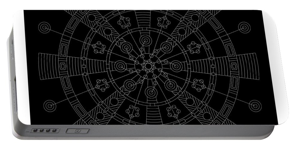 Relief Portable Battery Charger featuring the digital art Origin Inverse by DB Artist