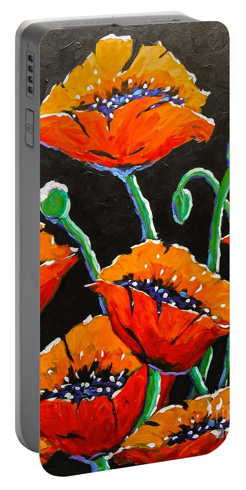 Floral Portable Battery Charger featuring the painting Chic by Richard T Pranke