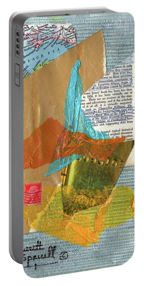Everett Spruill Portable Battery Charger featuring the painting Origins Of Civilization by Everett Spruill