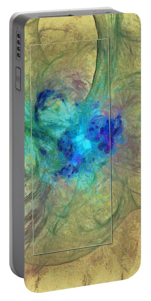 Ndc099 Portable Battery Charger featuring the painting Orthochlorite Spacing Id 16098-005652-96753 by S Lurk