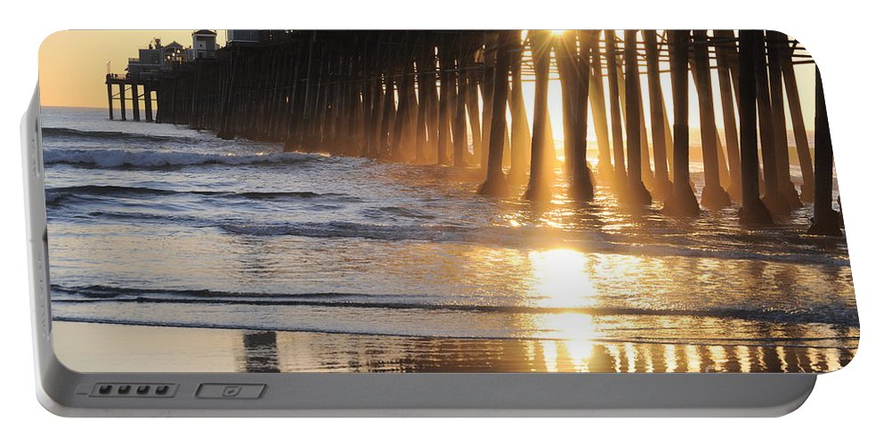 California Portable Battery Charger featuring the photograph O'side Pier by Bridgette Gomes