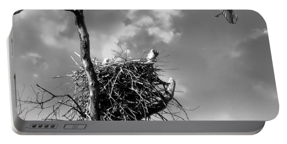 2d Portable Battery Charger featuring the photograph Osprey Nest by Brian Wallace