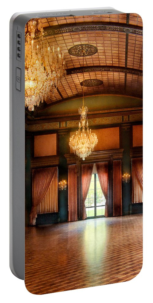 Hdr Portable Battery Charger featuring the photograph Other - The Ballroom by Mike Savad