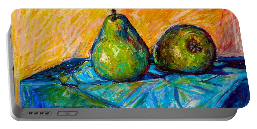 Still Life Portable Battery Charger featuring the painting Other Pears by Kendall Kessler