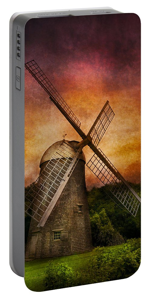 Hdr Portable Battery Charger featuring the photograph Other - Windmill by Mike Savad
