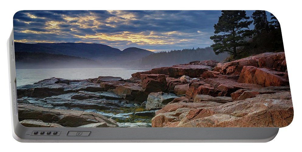 Otter Cove Portable Battery Charger featuring the photograph Otter Cove In The Mist by Rick Berk
