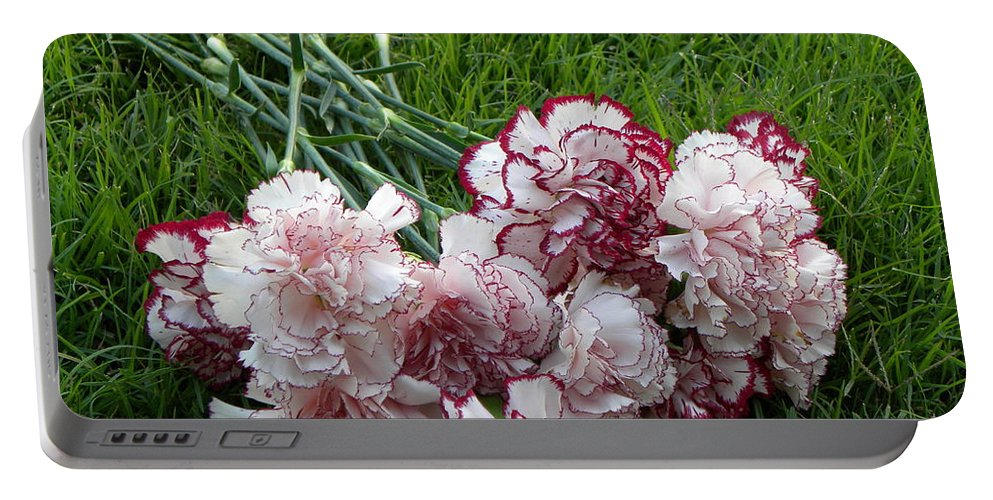 Nature Portable Battery Charger featuring the photograph Forgotten Bouquet by Shannon Turek