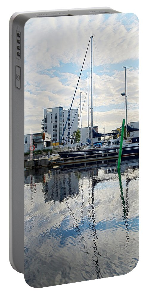 Oulu Portable Battery Charger featuring the photograph Oulu From The Sea 1 by Jouko Lehto