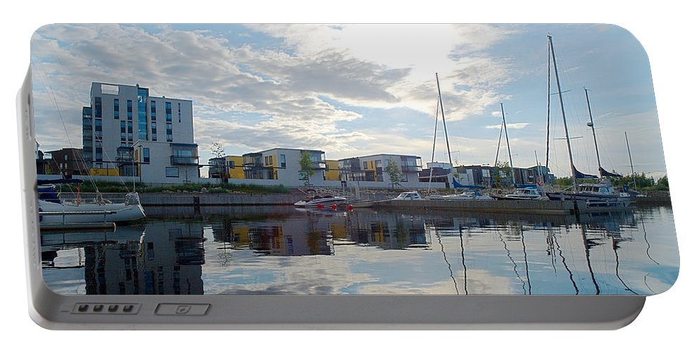 Oulu Portable Battery Charger featuring the photograph Oulu From The Sea 2 by Jouko Lehto