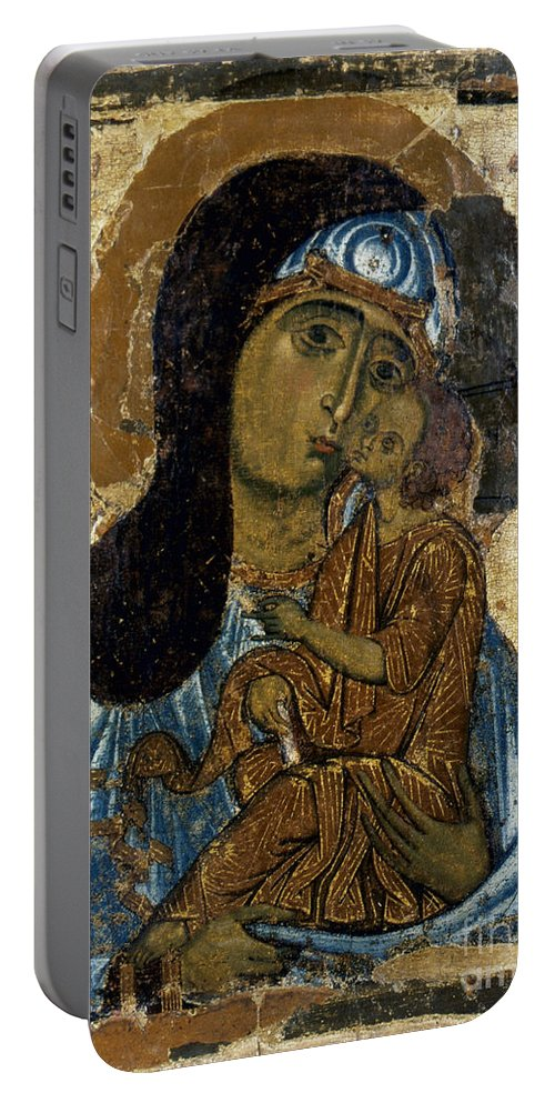 12th Century Portable Battery Charger featuring the photograph Our Lady Of Tenderness by Granger