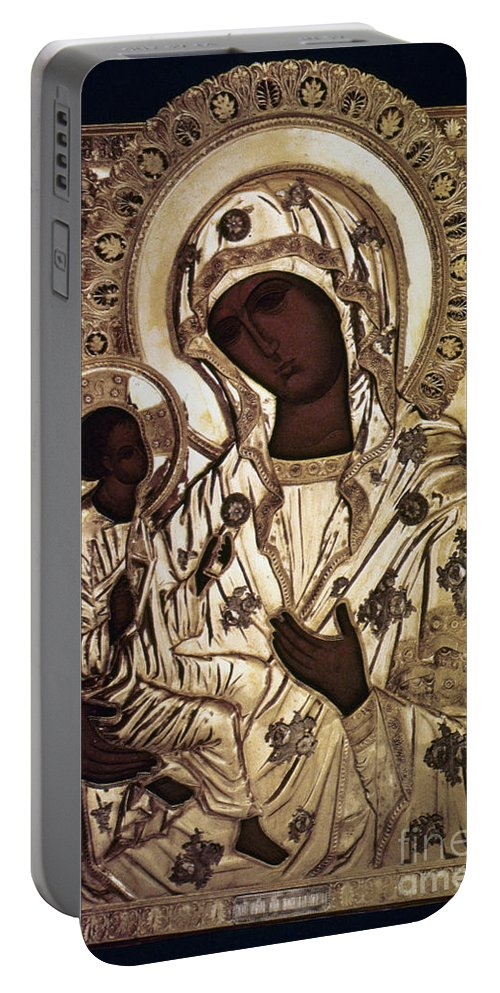 16th Century Portable Battery Charger featuring the photograph Our Lady Of Yevsemanisk by Granger